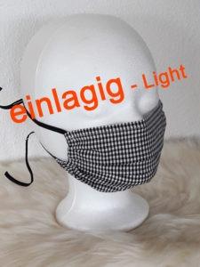 Gesichtsmaske einlagig, atmungsaktiv, Behelfsmaske für Arbeit, Werkstatt, Büro, Handwerk