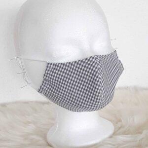 """Máscara facial design """"Karo-GRAU / Weiss-Style"""" com clipe para o nariz"""