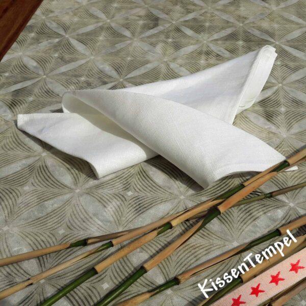 Serviette Linen creme * Leinen-Serviette 43x43 cm cremefarben