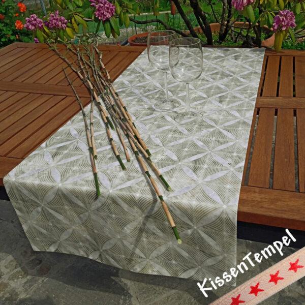"""Tischläufer """"Bamboo"""" (Bambus) 45x138 cm grün grau"""