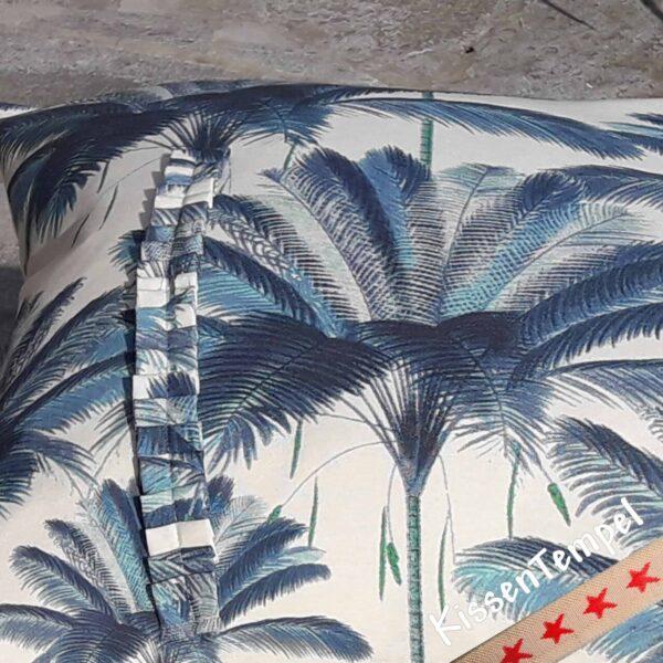 Kissen Blue Palm Stamm