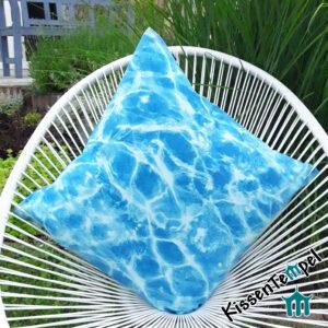 DekoKissen >Blue Water< KissenBezug, schimmerndes Wasser blau türkis