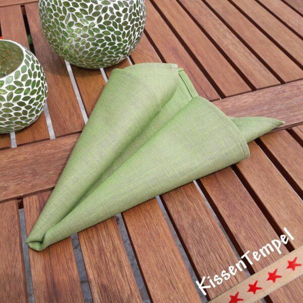 """Serviette """"Aloha"""" * Leinen-Serviette grün 43x43 cm"""