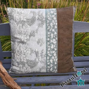"""Milano"" cushion, 60x60cm (24x24 ""), original Bassetti fabric, decorative cushion, motif: Italy, brown, petrol, light blue"