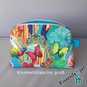 KosmetikTasche >Happy Arts XL< türkis orange gelb grün blau, SchminkTasche | Utensilio | KulturTasche | KosmetikBeutel