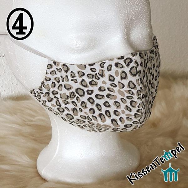 Gesichtsmaske Leopard Animal Print mit Nasenbügel, Herbstfarben, TierMuster, Alltagsmaske, Mund- und Nasenmaske