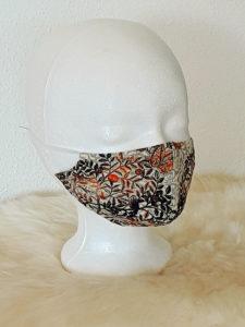 """Gesichtsmaske """"Herbstlaub-Style"""" mit Nasenbügel, Mund- und Nasenmaske, herbstliche Farben"""