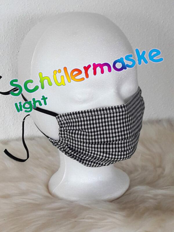 "Schülermaske ""Karo-LIGHT"" einlagig, mit Nasenbügel, atmungsaktiv, Schulmaske, Gesichtsmaske für Schüler"