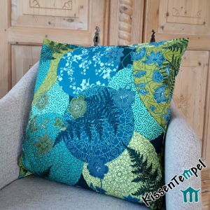 "DekoKissen ""Mandala Petrol"" 40x40 | 50x50 | 60x60 KissenHülle, blau, grün, petrol, jade, mint. Asia-Style, Japan, filigrane runde Mandalas"