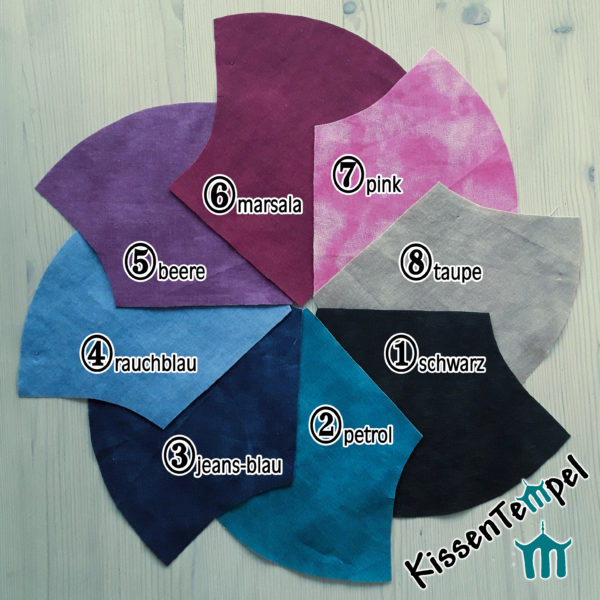 Maske Uni-Light Farben MundNasenMaske, schwarz | petrol | jeans-blau | rauchblau | beere | marsala | pink | taupe