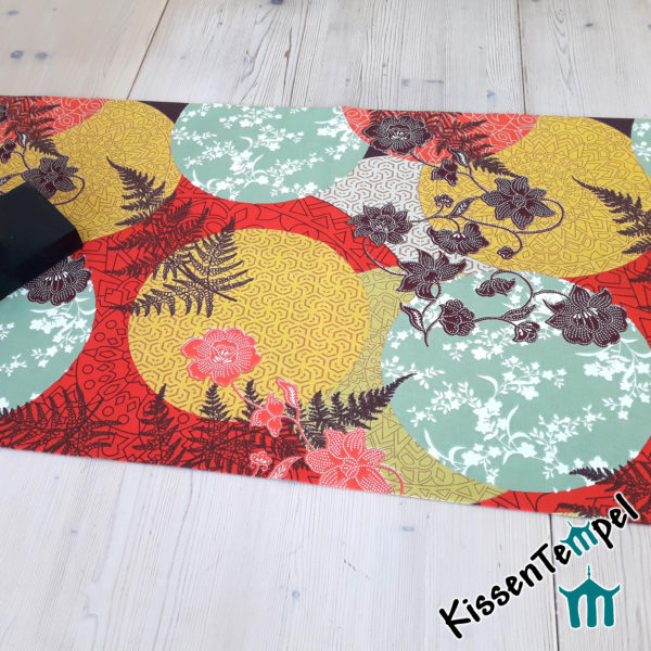 """Tischläufer Mitteldecke """"Mandala Indian Summer"""" winterliche Farben rot, orange, gelb, mint. Asia-Style, Japan, Weihnachten, Weihnachtsdeko"""