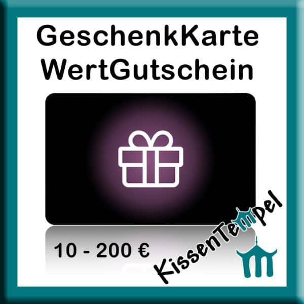 GeschenkKarte GeschenkGutschein WertGutschein vom KissenTempel