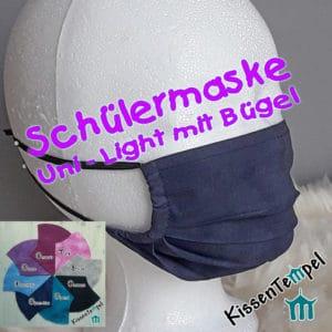"""Sehr atmungsaktive Schülermaske mit Nasenbügel"""" einlagig, Gesichtsmaske für Schüler"""