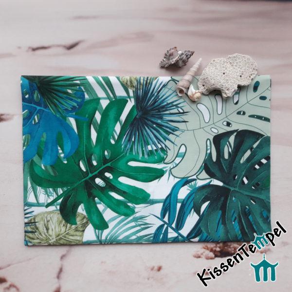 Outdoor Tischset >Jungle Feeling< UV-beständig, Wasser- und schmutzabweisend, grün türkis petrol