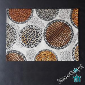 Tischset, Platzset >Mandala Africa< Animal Print, Tierdruck, Leo, Leopard, Tiger-Muster