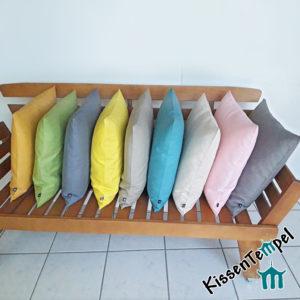 Leinenkissen >Lotte< verschiedene Farben und Größen, 100% Leinen, zeitlos, schlichte Eleganz