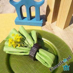 LeinenServietten Sets >Lotte< handgenäht in verschiedenen Farben, 100% Leinen, für den geschmackvoll gedeckten DinnerTisch