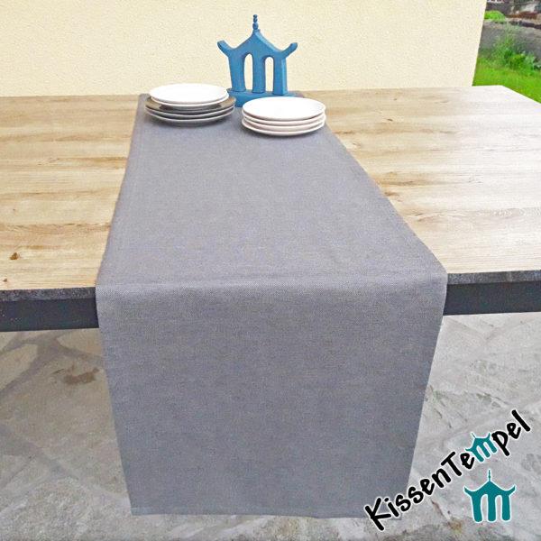 Outdoor Tischläufer >Nizza< UV-beständig, grau