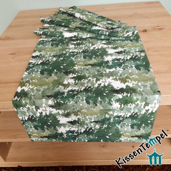 """Tischläufer """"Canada"""", Tannenwald in grün, jade, dunkelgrün, MittelDecke, TischDecke,"""